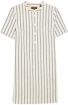 Theory Trapeze Stripe Mini Dress