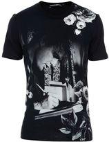 Dolce & Gabbana Black Marlon Brando Print T-shirt