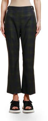 Marni Plaid Wool Crop Trousers