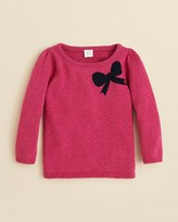 Egg by Susan Lazar Girls' Bow Sweater - Sizes 4-6