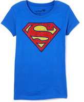 Jerry Leigh Royal Blue Supergirl Tee - Girls