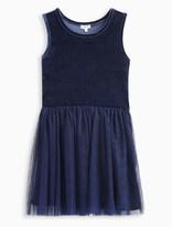 Splendid Girl Velour with Triple Mesh Dress