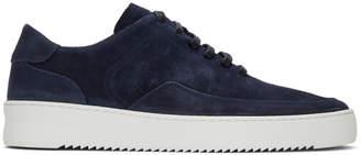 Filling Pieces Navy Suede Singular Mondo Low Sneakers