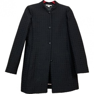 Marella Blue Cotton Coat for Women
