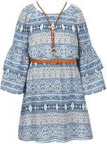 My Michelle Big Girls 7-16 Printed Bell-Sleeve Dress