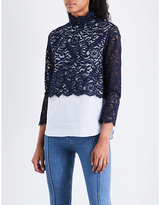Sandro Lace-panel cotton top