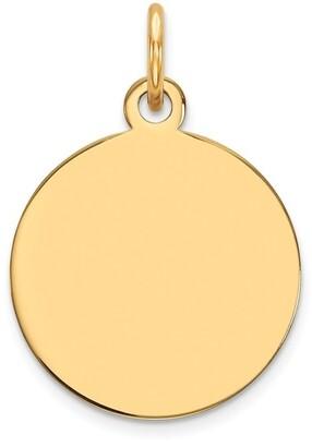 Curata 15mm 14k Plain .013 Gauge Circular Engravable Disc Charm