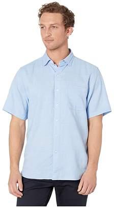 Tommy Bahama Short Sleeve Costa Tautira Shirt (Light Sky) Men's Short Sleeve Button Up