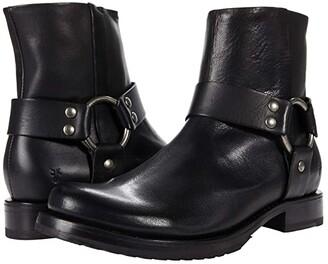 Frye Veronica Harness Short (Black Vintage Veg Tan) Women's Boots