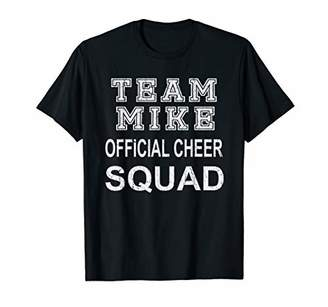 Parents Cheering for Mike Support Personalized Cheer Squad T-Shirt