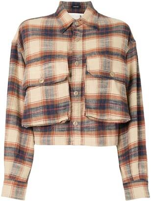 R 13 Flap-Pocket Plaid Shirt