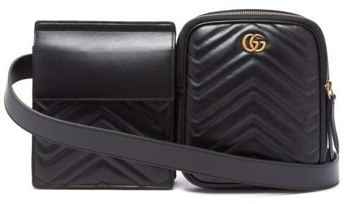 Gucci - Gg Marmont Leather Belt Bag - Mens - Black