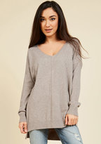 Dreamers by Debut Double Lunch Date Sweater in Oat