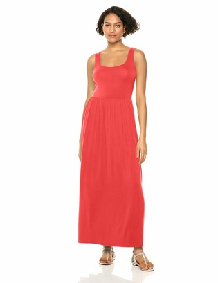 Amazon Essentials Women's Solid Tank Waisted Maxi Dress