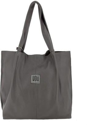 You By Tokarska Leather Handbag Shopper Grey