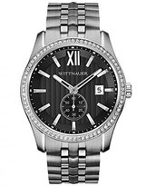 Wittnauer WN3031 Men's Michael Crystal Accented Bezel Dial Stainless Steel Watch