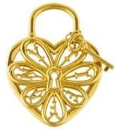 Tiffany & Co. 18K Filigree Heart & Key Pendant