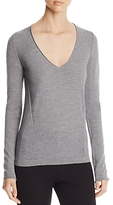 Donna Karan Wool V-Neck Sweater