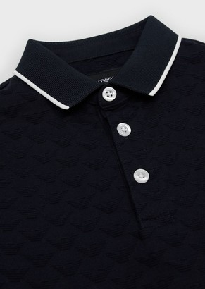 Emporio Armani Polo Shirt With Tone On Tone Jacquard Monogram