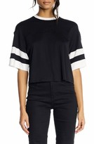 KENDALL + KYLIE Women's Double Stripe Crop Tee