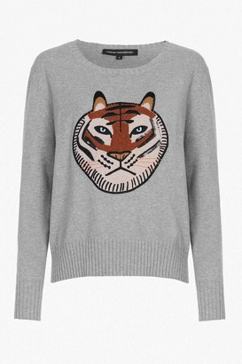 French Connection Tiger Knit Embroidered Jumper