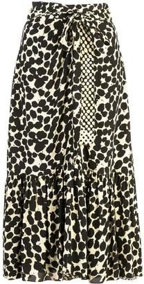 Proenza Schouler Painted Dot Skirt