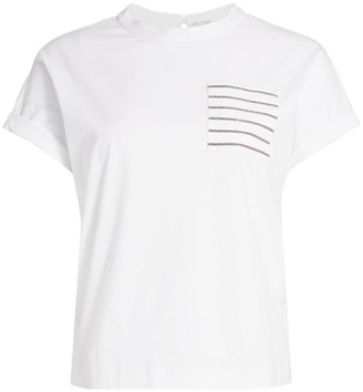 Brunello Cucinelli Monili Pocket T-Shirt