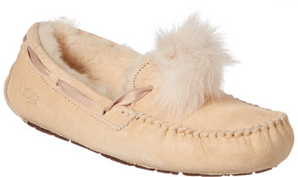 UGG Women's Dakota Leather Pom Pom Slipper