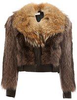 Faith Connexion raccoon and coyote fur jacket