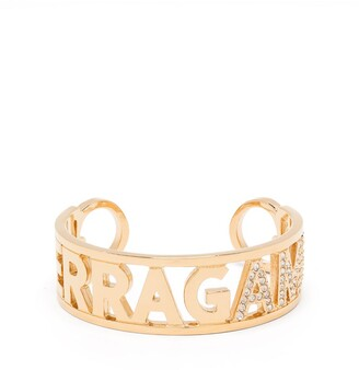 Salvatore Ferragamo rhinestone-embellished cuff bracelet