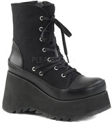 Demonia Women's Scene 50 Lace-Up Platform Ankle Boot