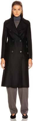 Harris Wharf London Military Coat in Black | FWRD