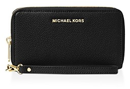 MICHAEL Michael Kors Multi-Function Flat Large Pebble Leather Smartphone Wristlet