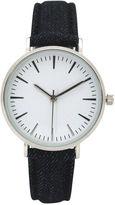 OLIVIA PRATT Olivia Pratt Denim Womens Gray Strap Watch-17441grey