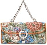Ermanno Scervino floral pattern clutch - women - Leather/Polyester/Crystal/Metal (Other) - One Size