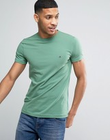 Tommy Hilfiger Slim Fit T-Shirt Small Flag Logo in Green