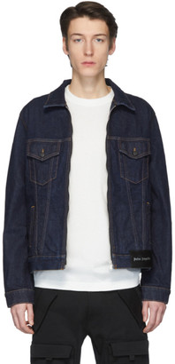 Palm Angels Blue Denim Palm x Palm Jacket