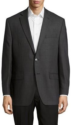 Calvin Klein Textured Notched-Lapel Woolen Jacket