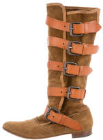 Vivienne Westwood Buckled Suede Boots