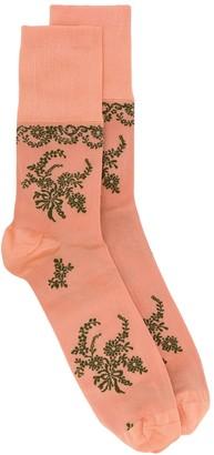 Simone Rocha Floral Jacquard Socks