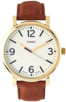 Timex T2P527 Gold-Tone & Brown Originals Watch