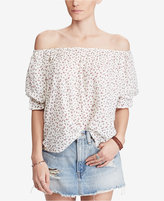 Denim & Supply Ralph Lauren Floral-Print Off-The-Shoulder Top