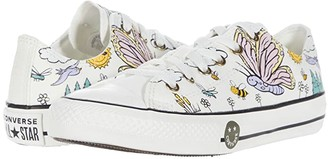 Converse Chuck Taylor(r) All Star(r) Camp - Ox (Little Kid/Big Kid) (Vintage White/Moonstone Violet/Black) Girl's Shoes