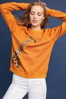 Anthropologie Ella Giraffe Sweatshirt, Orange