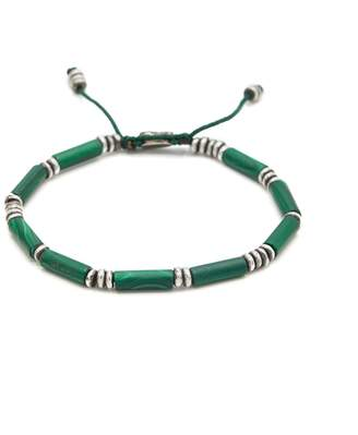 M. Cohen The Zinor Special Tube Cut Bracelet in Green