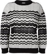 M Missoni scalloped pattern sweater