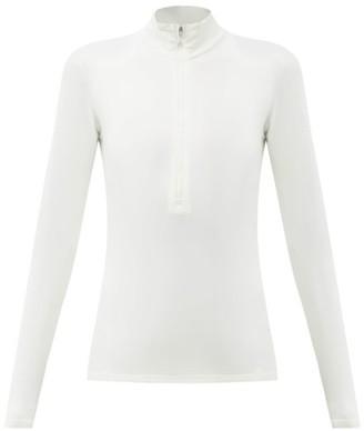 Fusalp Gemini Iii Half-zip Fleece-back Jersey Base Layer - White