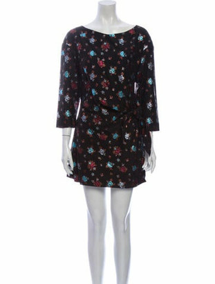 Lake Studio Floral Print Mini Dress w/ Tags Black