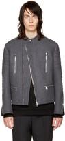 Neil Barrett Grey Authentic Biker Jacket