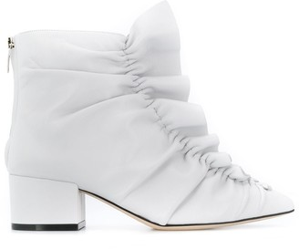Sergio Rossi Frill-Trim Ankle Boots
